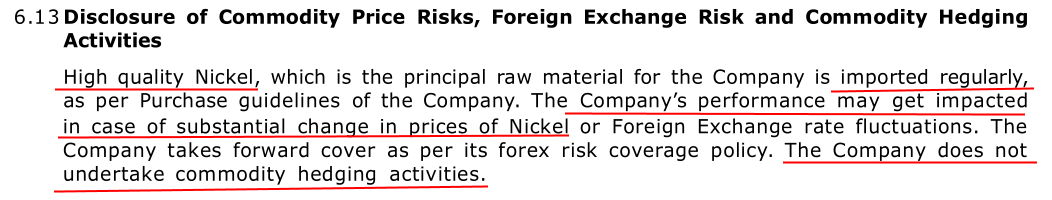 Stovec Industries Ltd 2017 No Hedging Of Nickel Prices