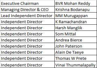 Cyient Ltd Board Of Directors