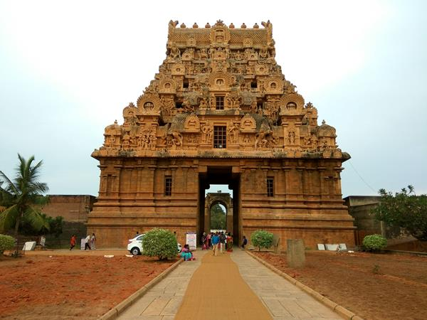 Gopuram At Brihadishwara Temple Thanjavur