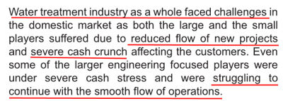 Ion Exchange India Ltd FY2014 Severe Projects And Cash Crunch