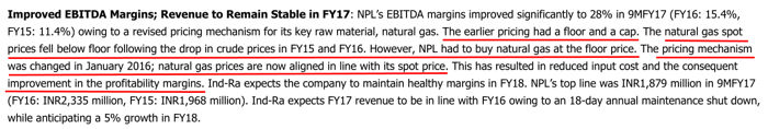 National Peroxide Ltd 2016 India Ratings Change In Natural Gas Pricing Mechanism With GAIL