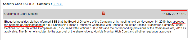 Bagheria Industries Ltd Scheme Of Amalgamation Approval
