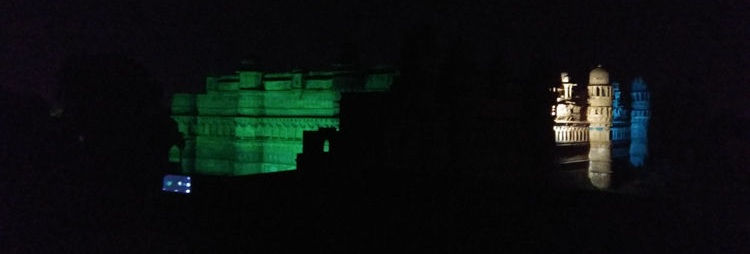 Gwalior Fort At Night Light And Sound Show