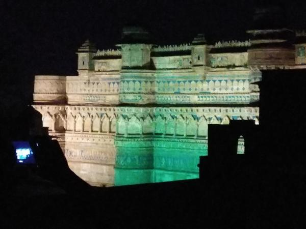Gwalior Fort Light And Sound Show At Night