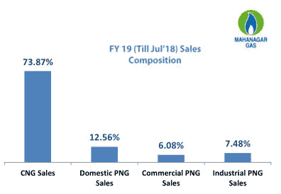 Mahanagar Gas Segmental Sales CNG PNG Industrial Commercial Sales Q1 FY2019