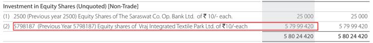 Nandan Denim Ltd Non Current Investments